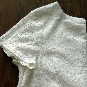 J.Crew White Eyelet Lace Blouse Perfect for Easter